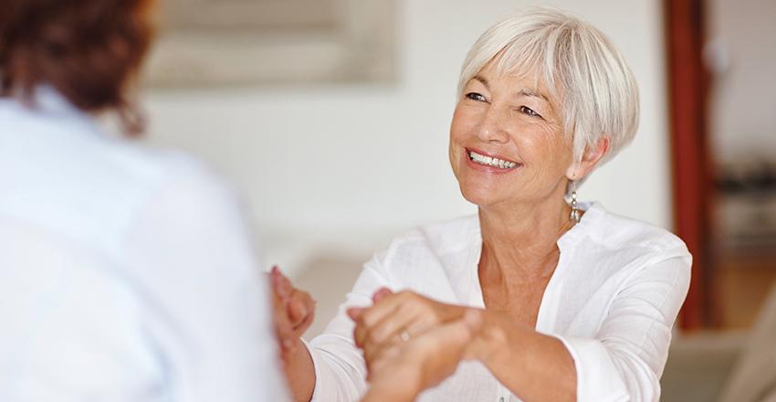 Women receiving home care